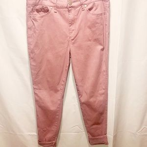 Seven7 blush high rise skinny jeans pink